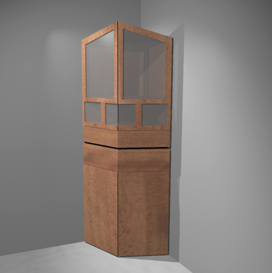 90 degrees - corner cabinet concept