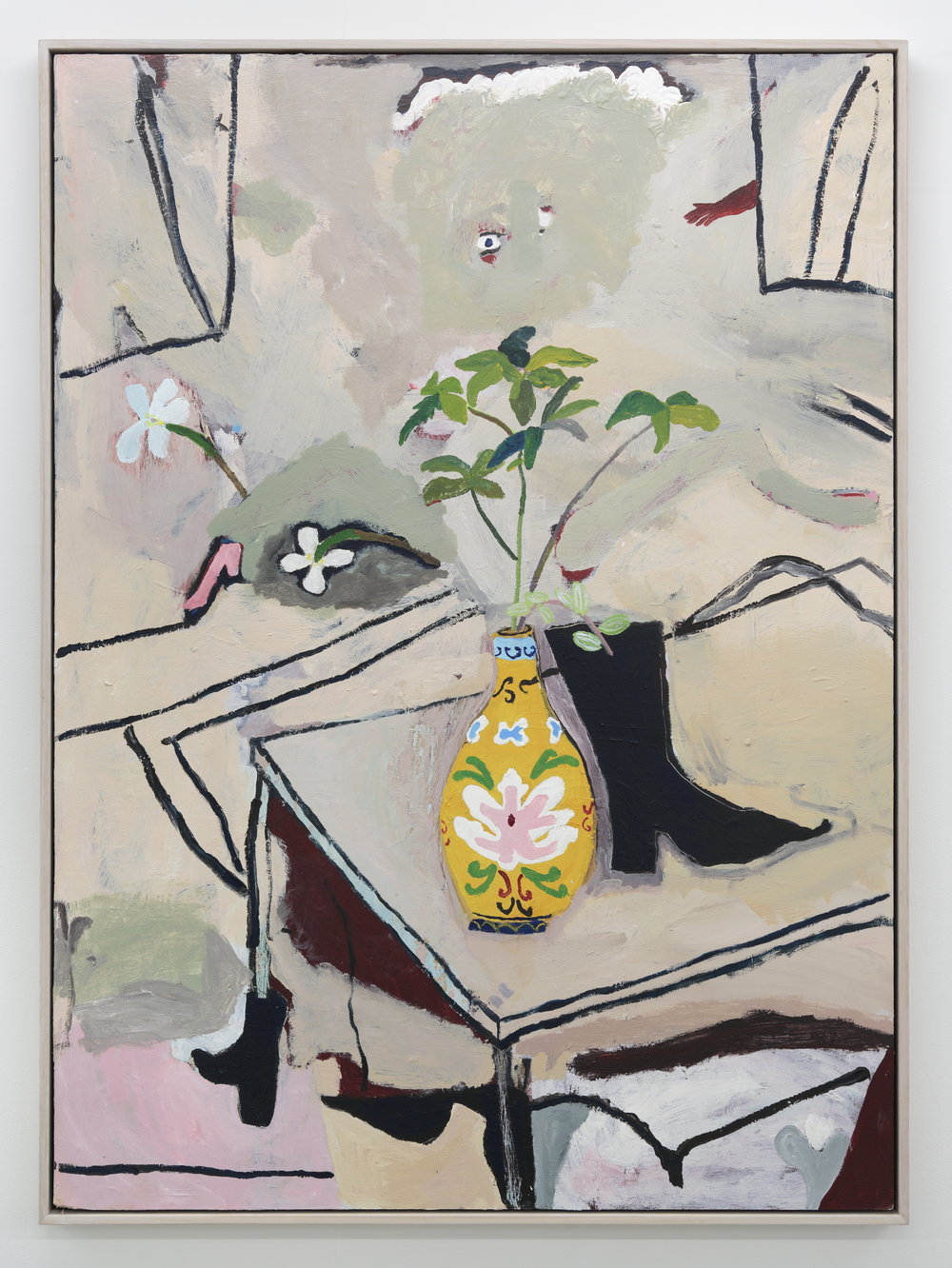 Boot Vase 2018 Acrylic on board 180 x 90 cm