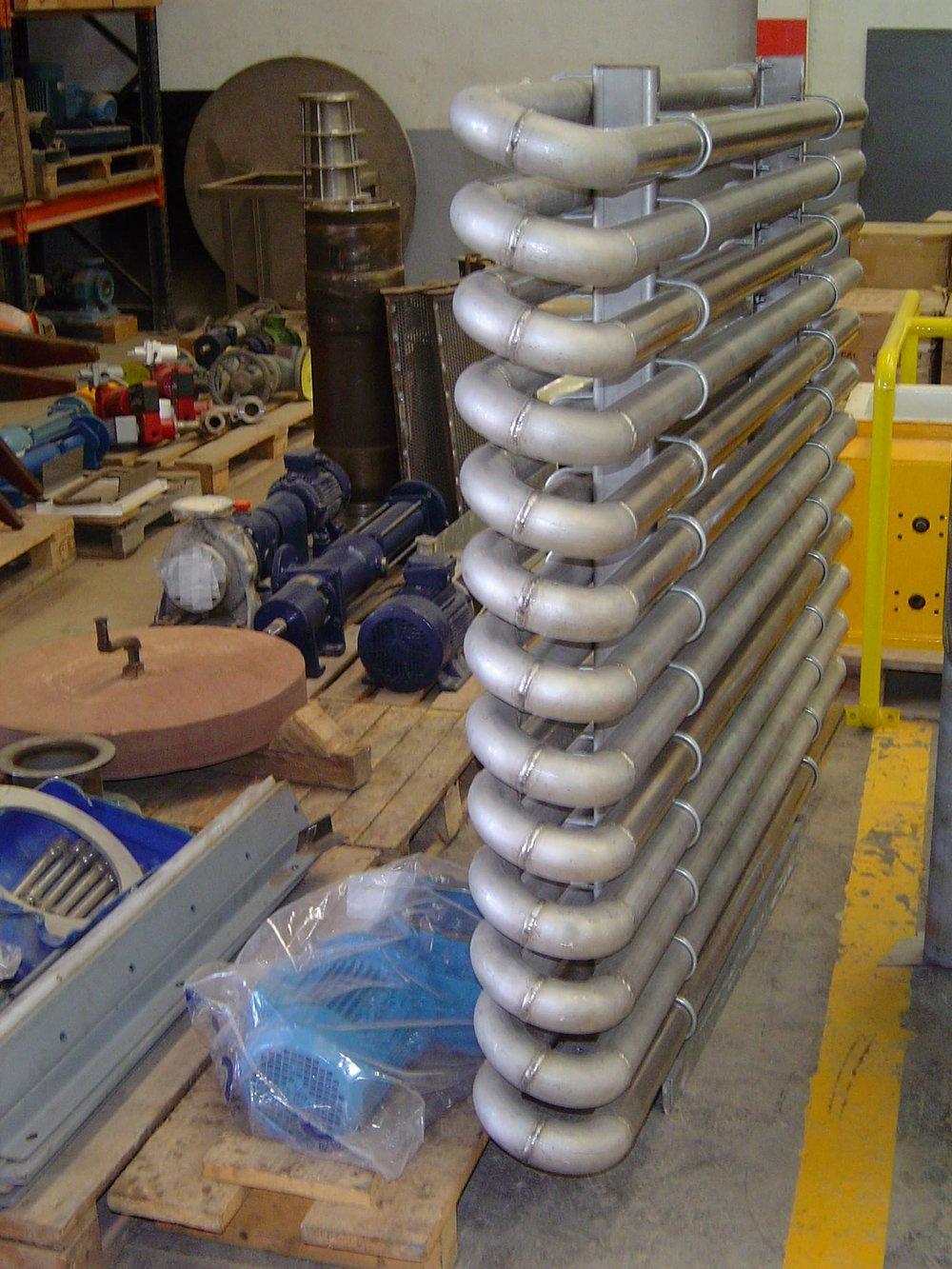 Fabricación de serpentín para aumento de temperatura de producto en fase de producción