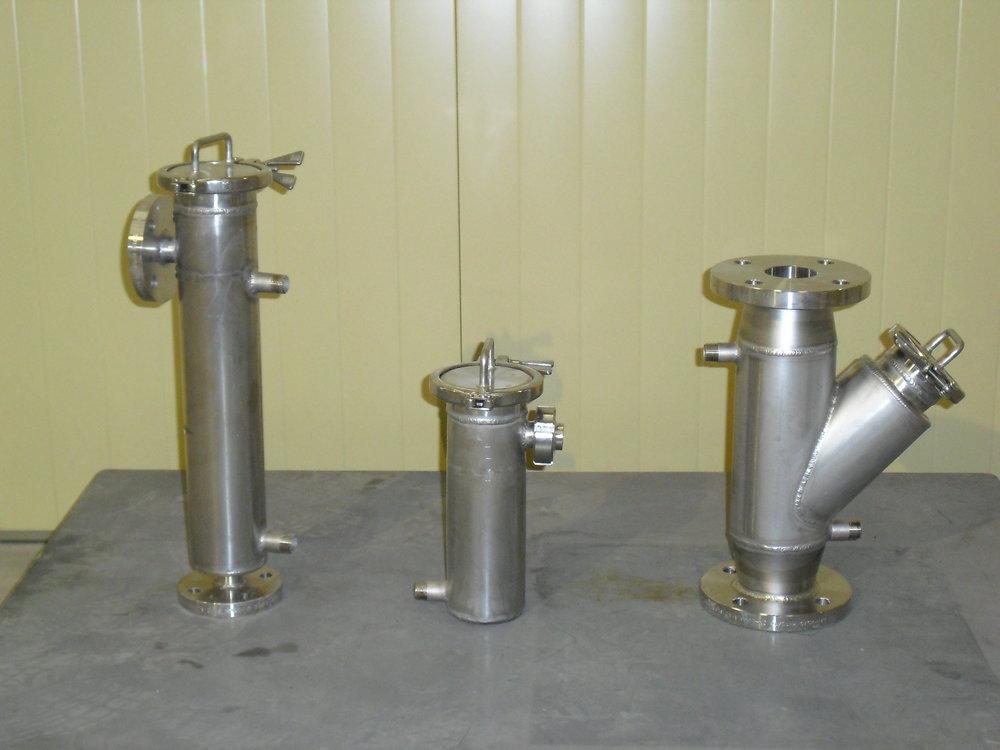 Filtros encamisados para mantener caliente el chocolate durante el proceso de filtración