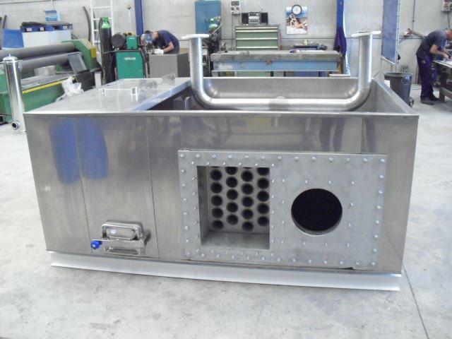 Cubas para procesos de cataforesis con intercambiador + hogar de caldera incorporada