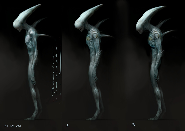 Prometheus Xenomorph Concept Art