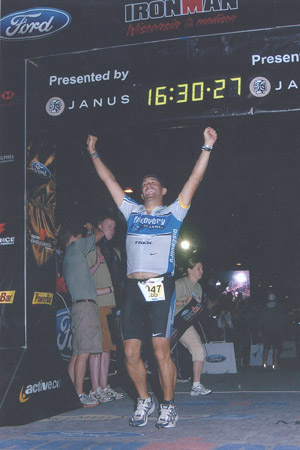 Todd completing the 2007 Ironman in Madison, WI in 16 hours, 30 minutes