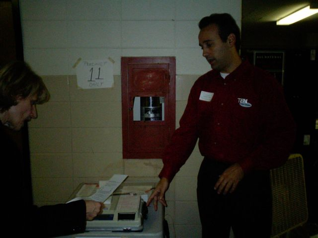 Todd as an election judge, November 2004