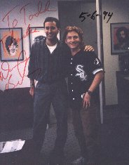Interviewing Former Partridge Family television series star/Former Chicago Disc Jockey Danny Bonaduce live on a Chicago Radio station