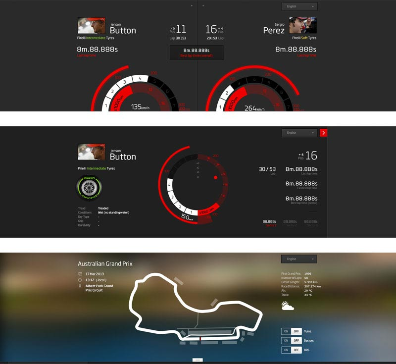 SITE DESIGN. McLaren.com/formula1 - a status update from an F1 car. With live data viz the fan sees what the team sees. Refreshed case study coming soon. See more here.