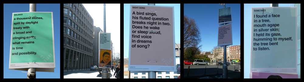 Upstart General Election Poster Project 2011: 1000 posters of original poetry and artwork on streets of Dublin.