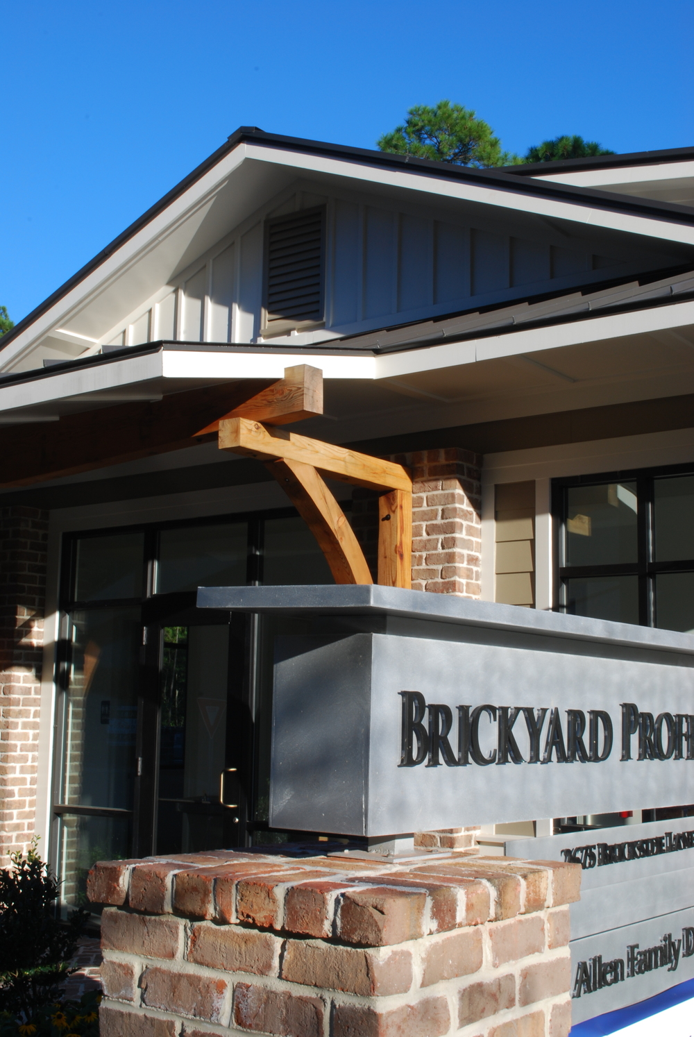 2007-8 | Brickyard Professional Park design for Allen Family Dentistry in Mount Pleasant integrates brick, wood and steel.