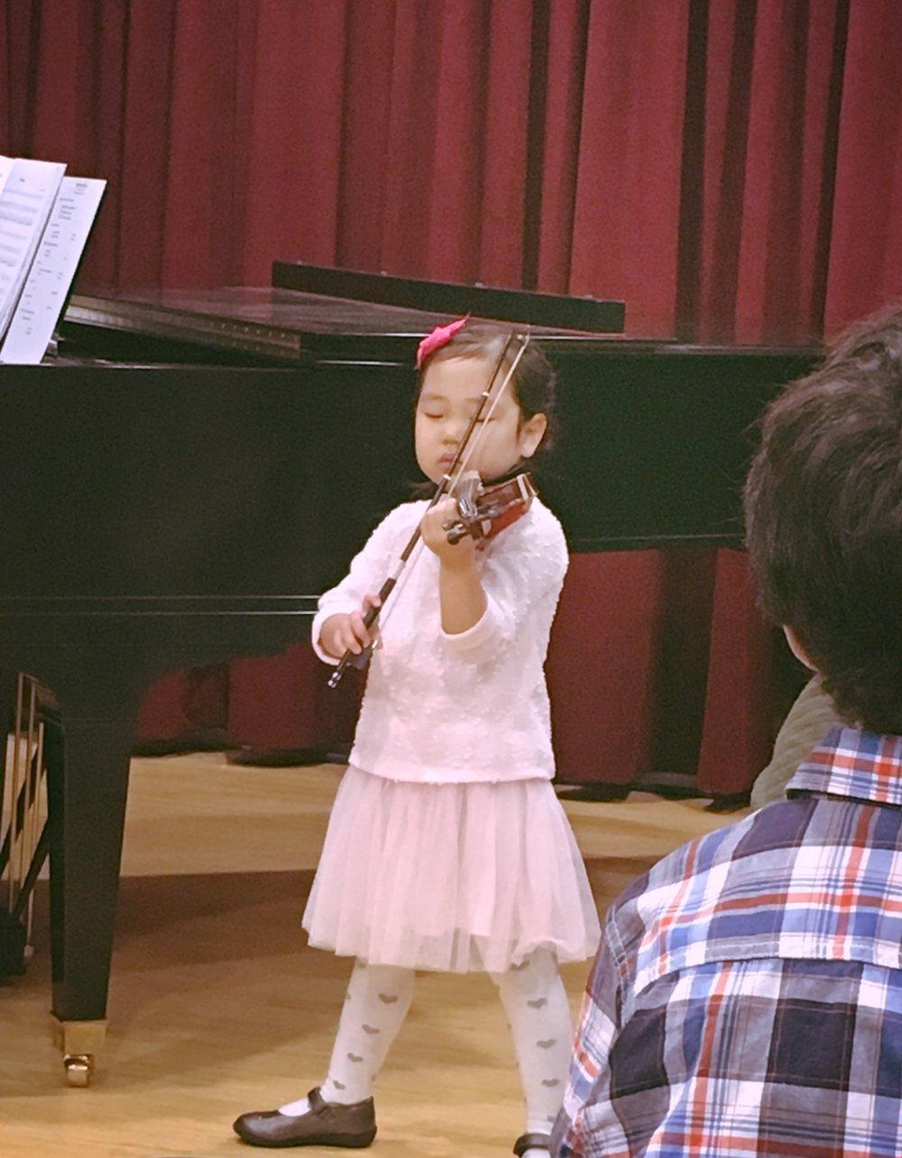 発表会での初演奏!