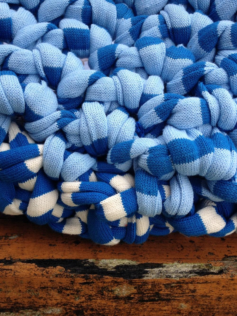 Le bleu du  panier de famille  XL