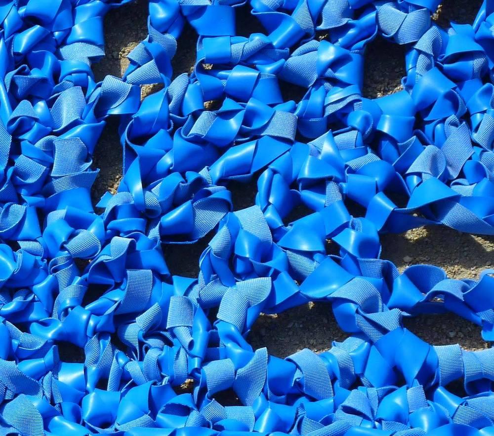Le bleu du  tapis de Flo