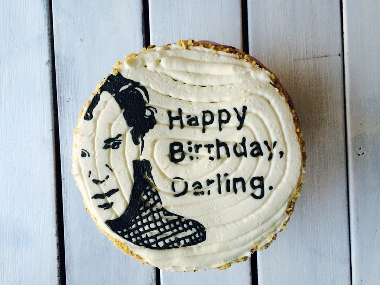 The Benedict Cumberbatch cake I made for my own birthday. Don't mock me.
