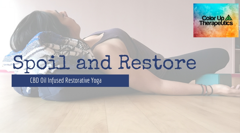 This is the time of year where schedules are hectic, and holidays are busy. Spoiling yourself is 100% necessary especially when you are busy. This hour long amazing restorative class with Christina will have assists infused with CBD oil by Color Up Therapeutics! December 16th, 5:00-6:00 Tickets are only $25 and will go fast so sign up early and treat yourself! Get your tickets  here.