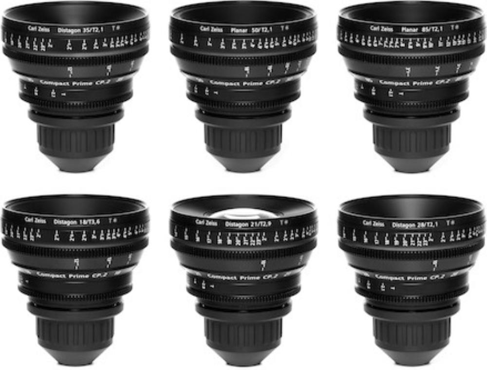 Zeiss CP.2 Prime Lens Kit (Six Lenses)