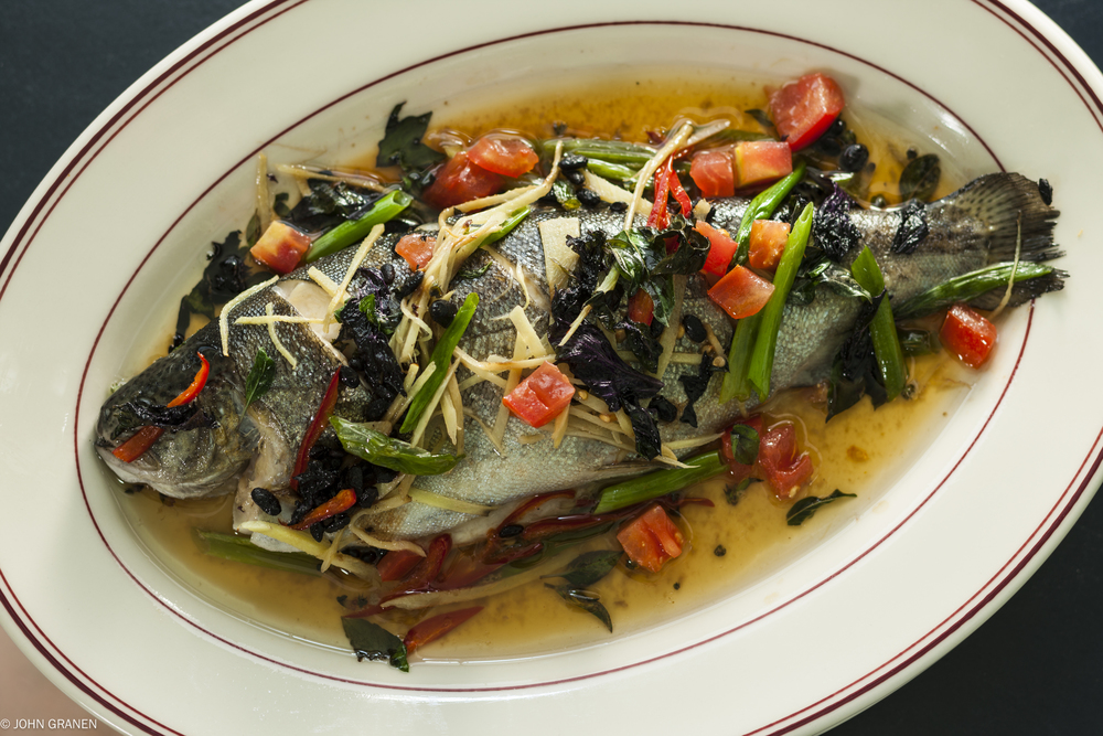 Steamed Whole Trout