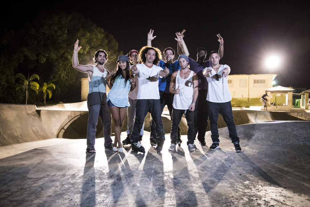 The crew shot from Quebradillas.  The most scenic skatepark I've ever been to.   Canon 6D, Tamron 24-70mm f/2.8 @24mm (iso1000, f/2.8, 1/80s)