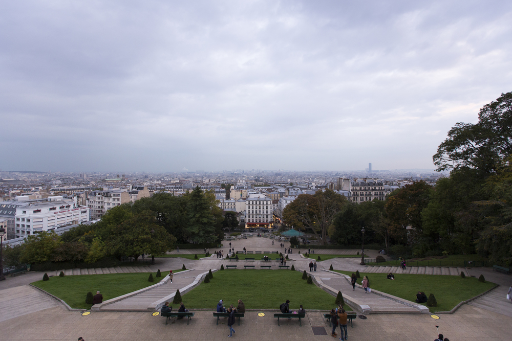 A friend from back home told us about this view of the city from Basilica du Sacré-Coeur which is pretty much a huge set of stairs that lead to a church on top of a hill.  Unfortunately it was overcast when we showed up but it was still cool to see.    Canon 6D, Canon 16-35mm f/2.8L (iso640, f/4, 1/200s)