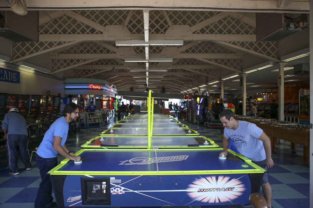 Afterwords, we rejoiced with an intense game of air hockey!