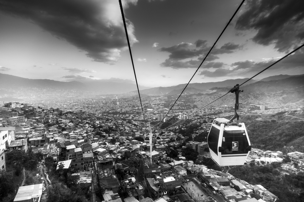 This was the view looking back on our way up.  The cable car stopped twice as we dangled above the city below and apparently it was much more windy than usual which turned it into a ride rather than a means of transportation.    Sony A7II, Canon 16-35mm f/2.8L II @16mm (iso250, f/2.8, 1/320s)
