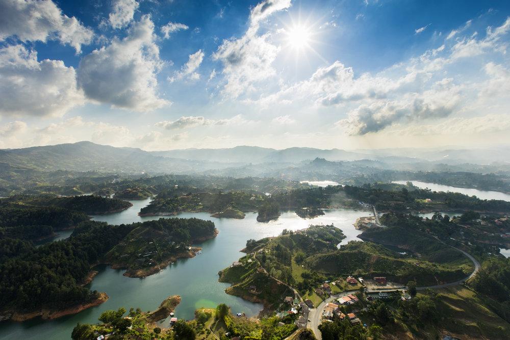 colombia guatape lake landscape austin paz