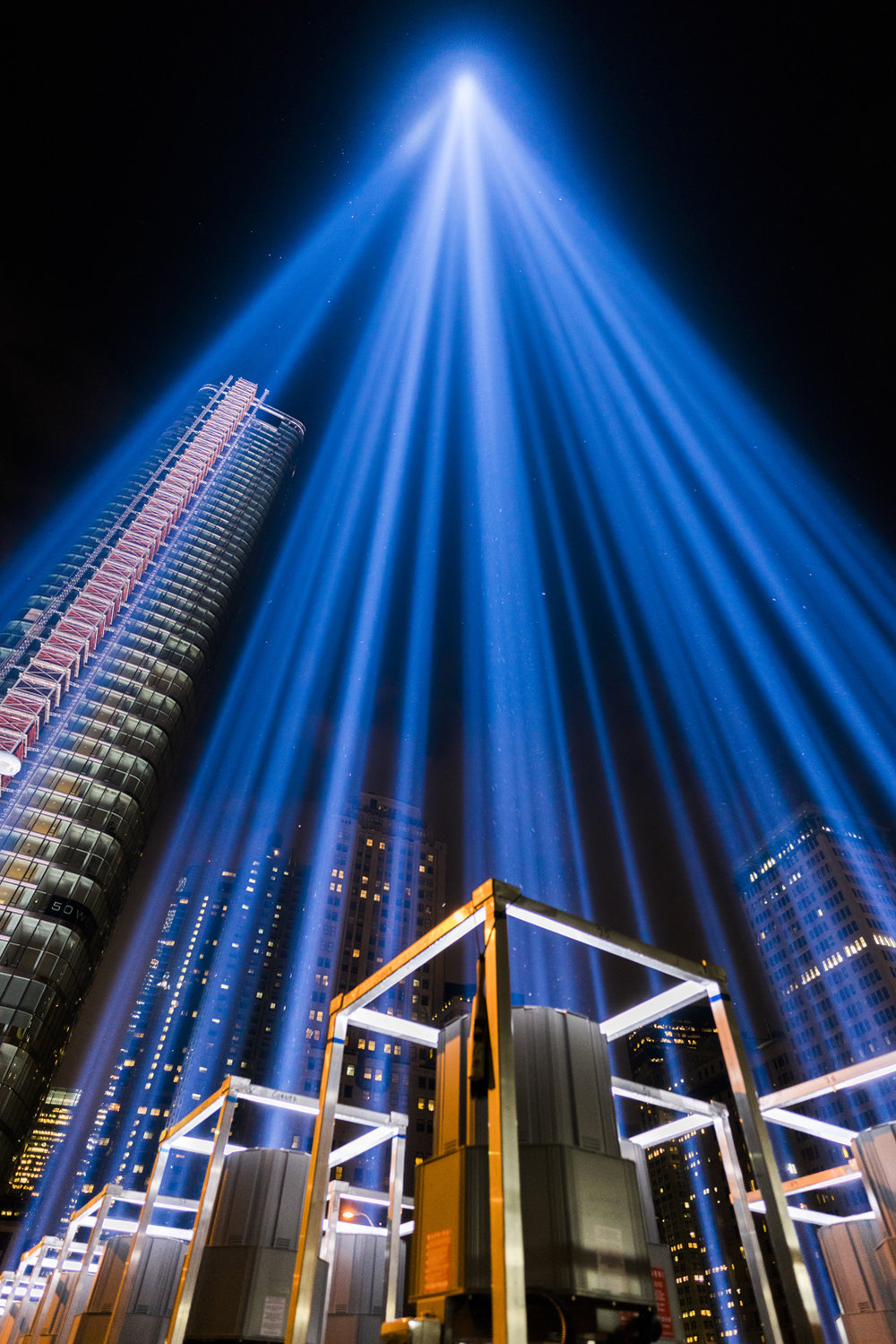 911 tribute lights world trade center austin paz nyc