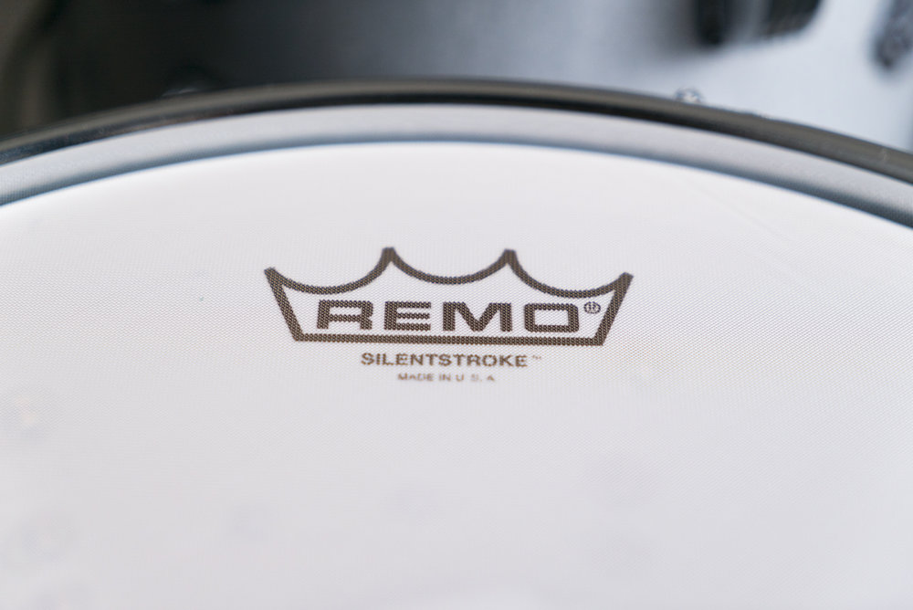 remo silent stroke Ludwig Breakbeats Roland hybrid electric drum kit austin paz
