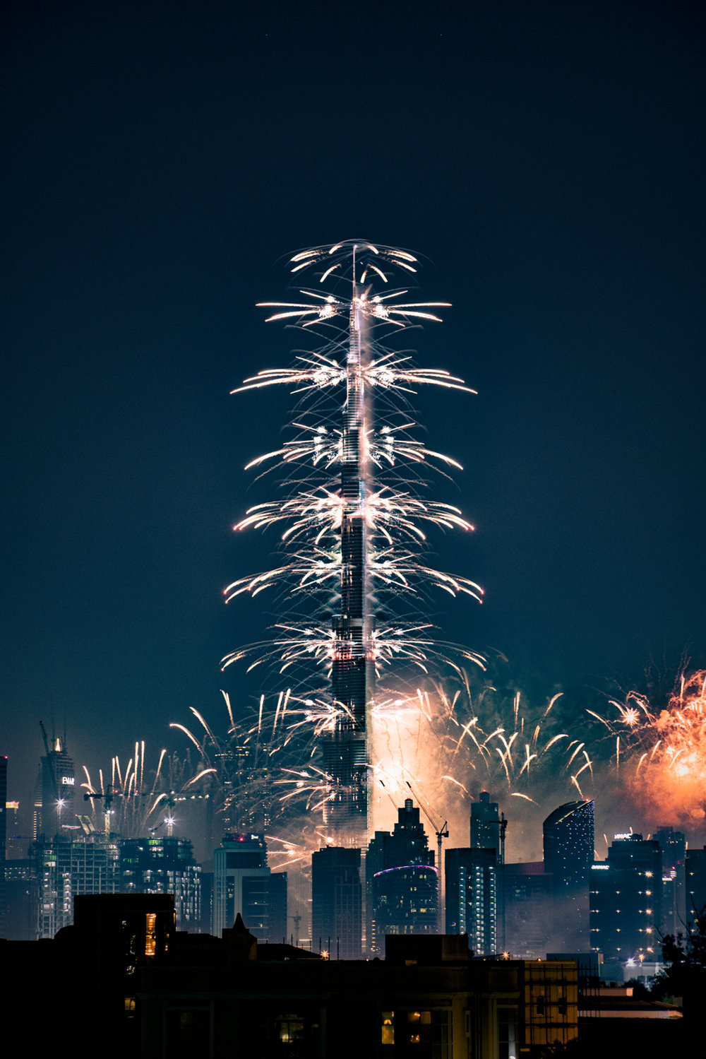Ringing in the new year from Dubai!  A7RII, Canon 70-200mm f/2.8L  (iso1000, f/5.6, 1/4s)