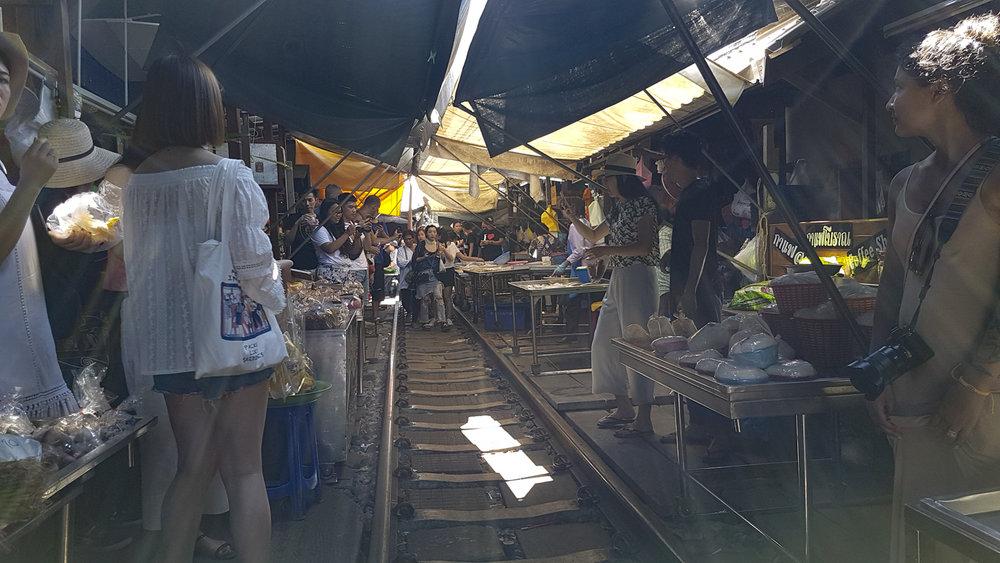 makelong railway market austin paz thailand tourist