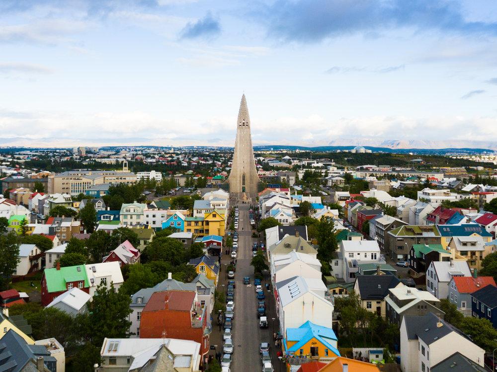 reykjavik iceland drone austin paz
