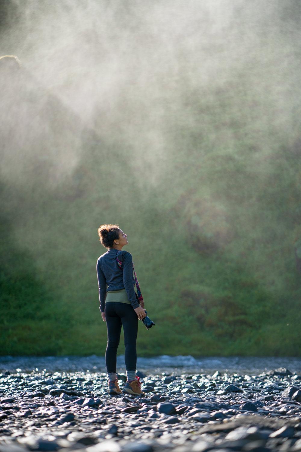 Skógafoss iceland waterfall travel photography amanda lee