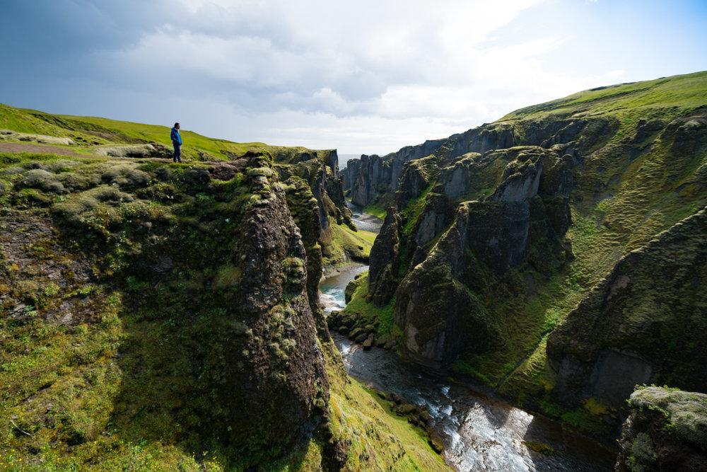 Fjaðrárgljúfur iceland landscape travel photography austin paz