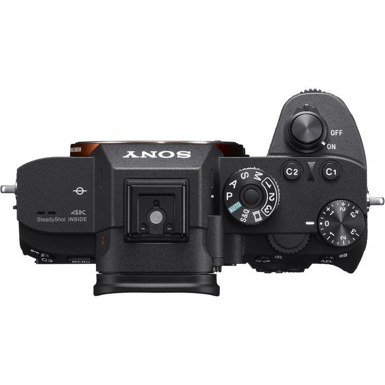 Top Angle Sony A7RIII