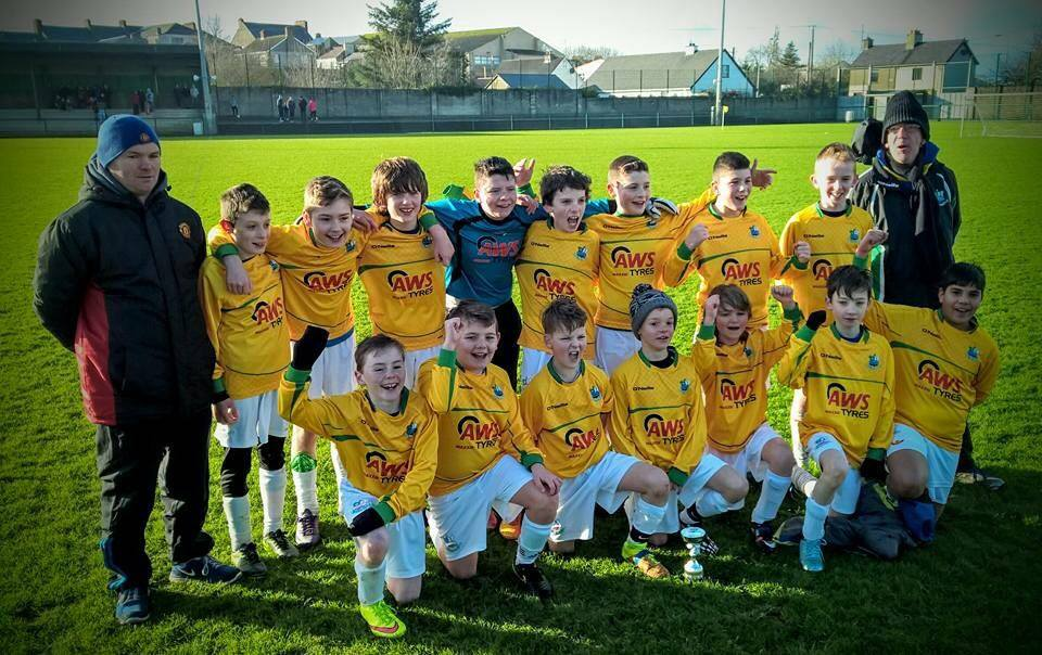 moville under 12 sponsored by AWS Tyres.