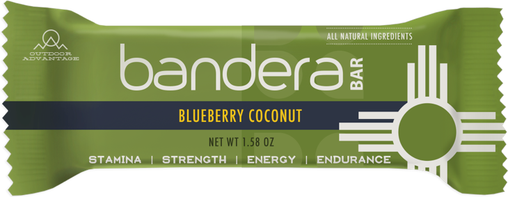 Blueberry Coconut Bandera Bar