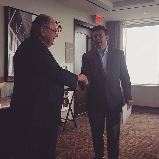 @cbuckboston and #Massachusetts House Speaker Bob DeLeo doing good work for MA business #mapoli