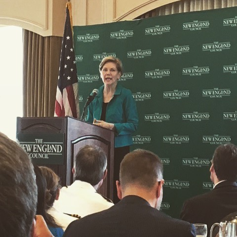 #tbt to the New England Council breakfast with @SenWarren