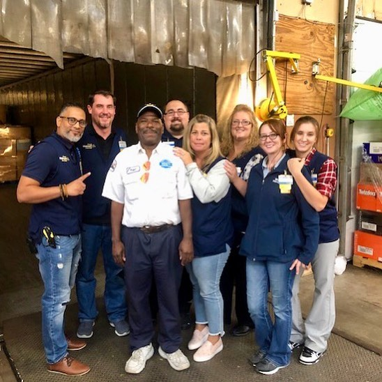 Over 30 @walmart associates from #Salem, #Manchester and #Plaistow, New Hampshire volunteered to load over $20,000 in supplies onto two trucks and deliver necessities to their neighbors who were forced to evacuate due to the gas line fires in #Lawrence, #Andover and #NorthAndover, MA, last week. The volunteers worked to critical supplies to the 4 shelters in Lawrence and Andover that are housing displaced residents.
