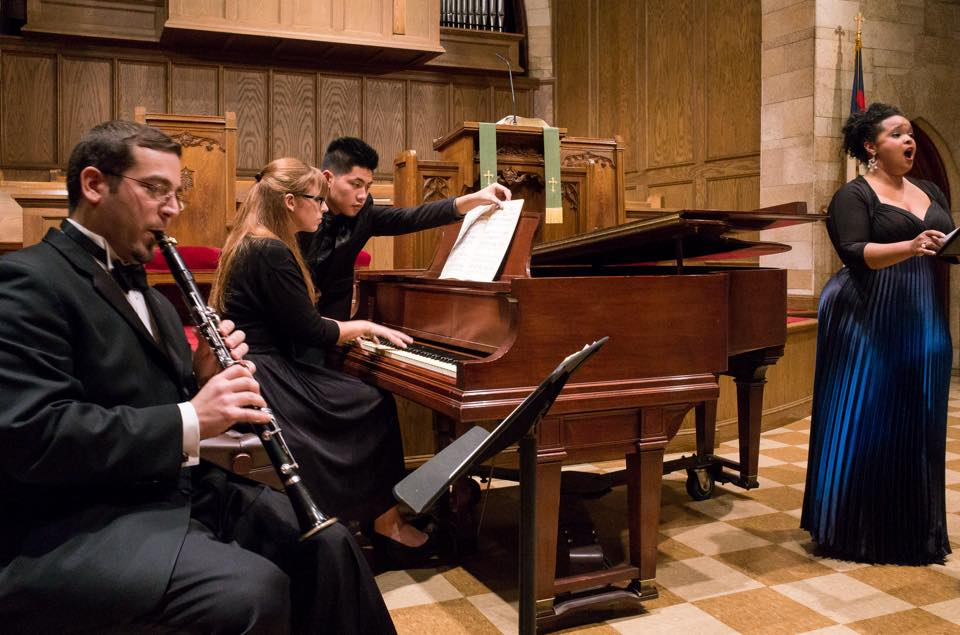 In performance with Chamber Music Society of New Jersey, 2014 (Also Pictured: Giuseppe Fusco, Christina Chenes, and Kyle Ezekiel Del Rosario)