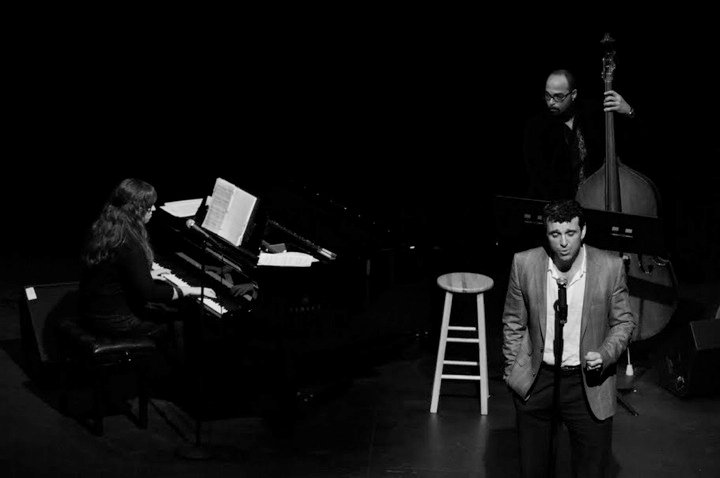 Music directing Midtown Direct Rep's Gala @ SOPAC, 2013 (Also Pictured: Bradley Dean and George Farmer)