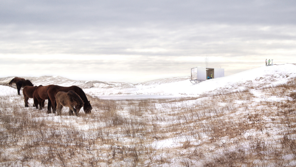 Proposed Visitor Shelter on Sable Island Image: Matthew Griffin-Allwood