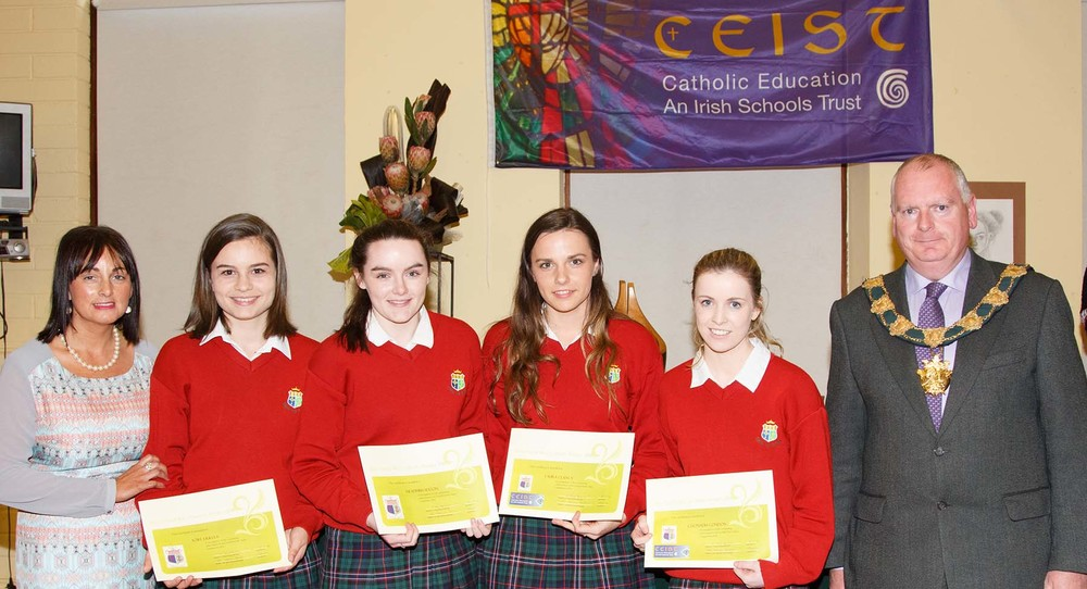Aoife Dullea, Meadhbh Sexton, Laura Clancy & Clionadh Condon Certified Irish Angus Schools Competition Inaugural Winners
