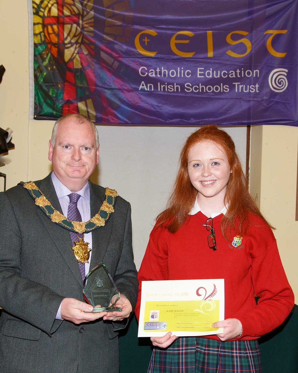 Katie Sexton Joint winner of Junior Certificate Student of the Year