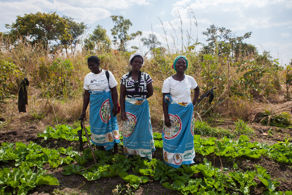 Naomi welcomes us to her farm  in Chakale with her friends Rosemarie and Alice