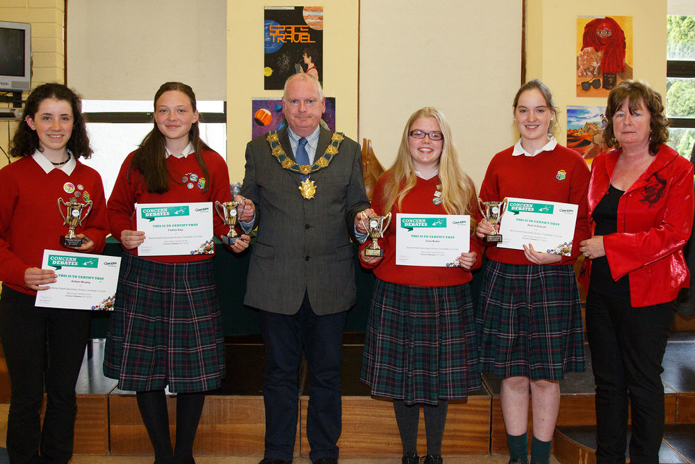 Aideen Murphy, Fodhla Daly, Ciara Butler & Ruth O'Driscoll All Ireland Concern debate semi finalists
