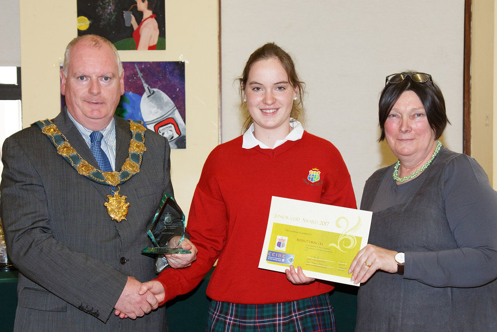 Junior Certificated Award Ruth O'Driscoll