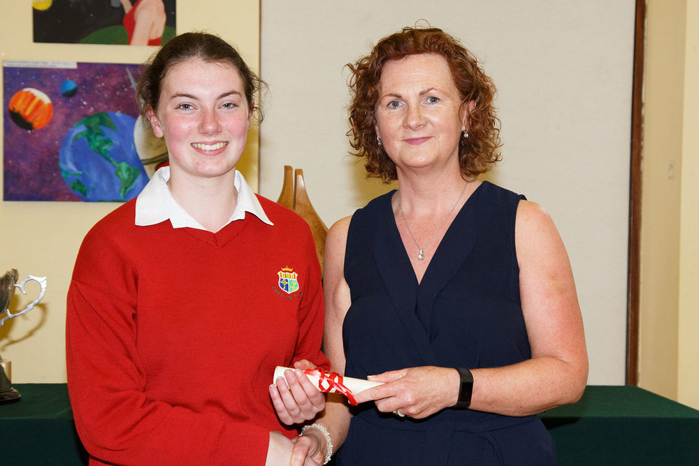 Laura Walsh : Inaugural joint winner of the  National Richard Burke Personified Transition Year Student of the Year