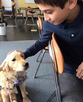 RUBY AND FRIEND AT SUMMIT ACADEMY