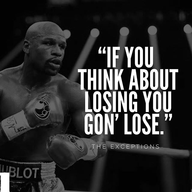 Think like a winner.