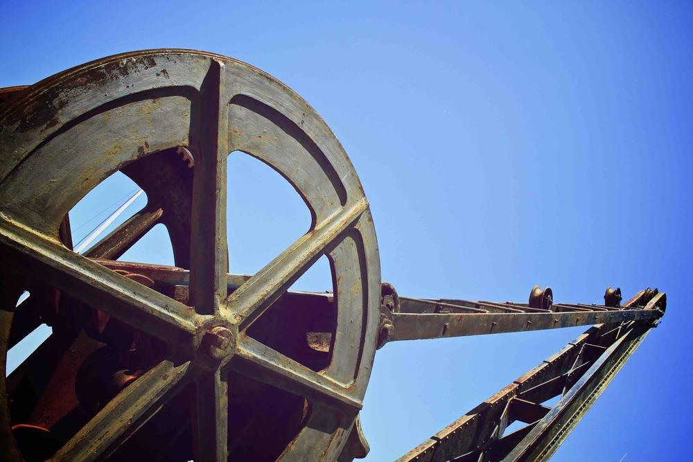 ancienne grue du port de saint martin