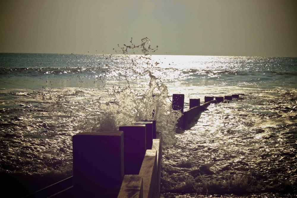 épis en bois, plage de la couarde sur mer